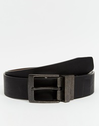 New Look Faux Leather Reversible Belt Black