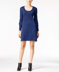 Ny Collection Petite Ribbed Sweater Dress Alpha Blue
