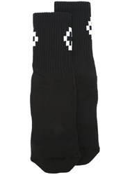 Marcelo Burlon County Of Milan 'Cruz' Socks Black