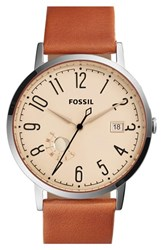 Women's Fossil 'Vintage Muse' Leather Strap Watch 40Mm