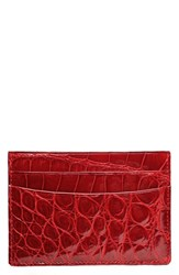 Men's Trafalgar Alligator Leather Card Case Red