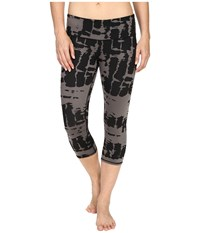 Alo Yoga Airbrushed Capri Black Tie Dye Women's Workout