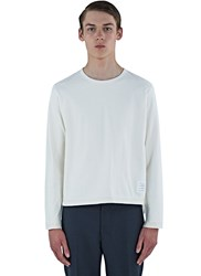 Thom Browne Heavyweight Buttoned Long Sleeved Top White
