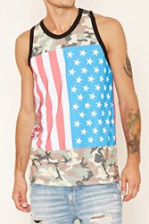 Forever 21 Cross Colours Camo Print Tank