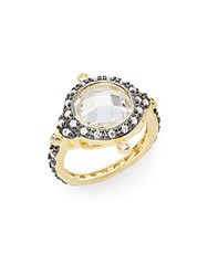 Freida Rothman Crown Station Two Tone Wrap Ring Gold Silver