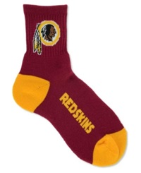 For Bare Feet Washington Redskins Ankle Tc 501 Medium Socks Maroon Gold