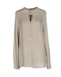 Fly Girl Shirts Blouses Women Beige