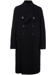 Rick Owens Oversized Peacoat Black