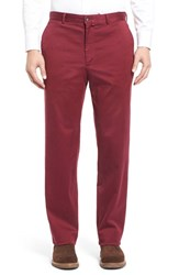 Men's Bobby Jones 'James' Straight Leg Stretch Twill Pants Burgundy