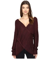 Brigitte Bailey Stacia Pullover Sweater Plum Women's Sweater Purple