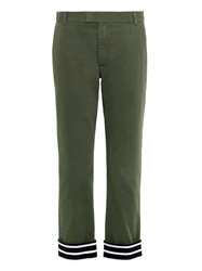 Band Of Outsiders Cotton Contrast Cuff Trousers