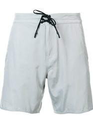 Outerknown Contrast Drawstring Chino Shorts Grey
