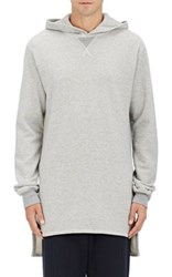 Nlst Men's French Terry Extra Long Hoodie Light Grey