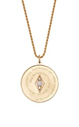 Venyx Bespoke Libra Coin Pendant And Chain White