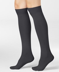 Hue Women's Diamond Knee High Socks Cobblestone
