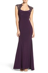 Xscape Evenings Women's Lace Inset Mermaid Gown