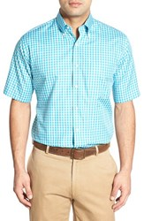 Men's Peter Millar 'Narragansett Tattersall' Regular Fit Sport Shirt Ocean