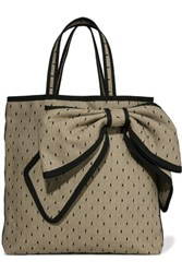 Red Valentino Redvalentino Embellished Point D'espirit And Canvas Tote Black