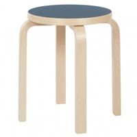 Artek Aalto Stool E60 Blue Linoleum Stools Furniture Finnish Design Shop