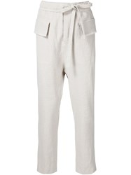 Damir Doma 'Polate' Trousers Nude And Neutrals