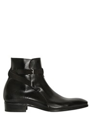 Lidfort Belted Brushed Leather Ankle Boots