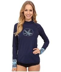 Carve Designs Tidal Rashguard Anchor Multi Women's Swimwear Navy