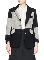 Song For The Mute Macro Plaid Notch Lapel Wool Blazer Multi Colour