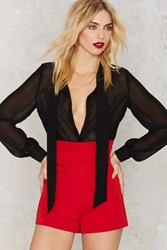 Nasty Gal So High Structured Shorts Red