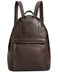 Cole Haan Pebbled Leather Backpack Chocolate