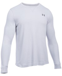 Under Armour Men's Waffle Textured Long Underwear Shirt Air Force Gray Heath