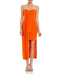 Elliatt Strapless High Low Dress Burnt Orange