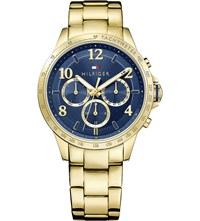 Tommy Hilfiger 1781643 Gold Plated Stainless Steel Watch Blue