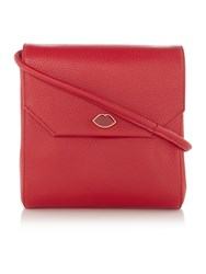 Lulu Guinness Gabrielle Small Red Shoulder Bag Red