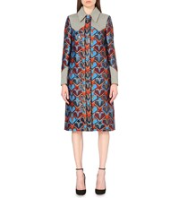 Mary Katrantzou Star Jacquard Coat Burgundy