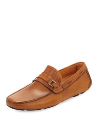Magnanni For Neiman Marcus Vekio Leather Slip On Driver Cognac