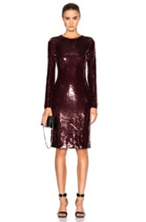 Givenchy Sequin Dress In Red Purple Red Purple