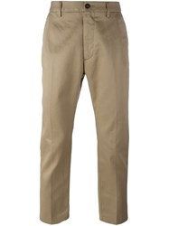 Pence Dropped Crotch Straight Fit Chinos Brown