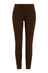 Ralph Lauren Black Label Suede Leggings Brown