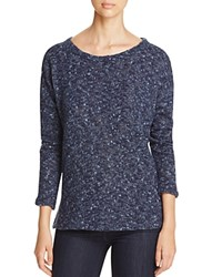 Sanctuary Easy Street High Low Marled Sweater Navy