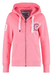 Superdry Tracksuit Top Fluro Acid Pink Snowy Rose