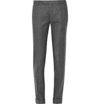 Gant Charcoal Slim Fit Wool Suit Trousers Gray