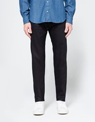 Naked And Famous Easy Guy 11Oz. Stretch Selvedge With Black Weft Indigo Black