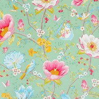 Pip Studio Chinese Garden Wallpaper 341005 Mint Green