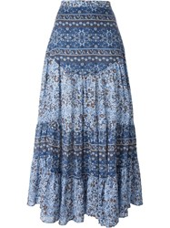 See By Chloe See By Chloe Boho Floral Print Maxi Skirt Blue