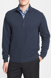 Cutter And Buck 'Broadview' Cotton Half Zip Sweater Navy Heather
