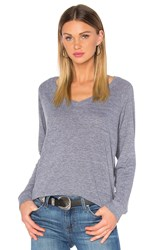 Nation Ltd. V Neck Raglan Sweatshirt Gray