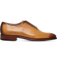 Sutor Mantellassi Oliver Burnished Leather Oxford Shoes Tan