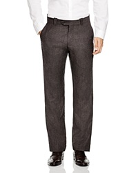 The Men's Store At Bloomingdale's Wool Plaid Regular Fit Trousers Brown Mix