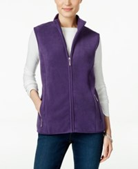 Karen Scott Fleece Zip Front Vest Only At Macy's Cassis