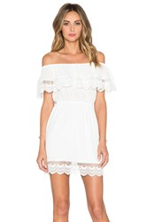 Liv Chelsea Tiered Lace Dress White
